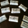 306 Monogram Wedding Candy wrappers/stickers/labels for miniature chocolate bars (Personalized Favors)