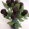 Long Stem Solid Chocolate Roses 12 Dark chocolate