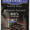 Ghirardelli Chocolate Intense Dark Squares, Midnight Reverie 86% Cacao, 4.12-Ounce Bags (Pack of 4)