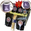 Beverly Turner Christmas Design – Victorian Stocking, Happy Holidays, Purple – Coffee Gift Baskets – Coffee Gift Basket