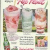 Enjoy a Seven-Up Float! Ad 1954 Strawberry Pistachio Chocolate Ripple