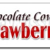 36″ CHOCOLATE COVERED STRAWBERRIES DECAL sticker candy dipped chocolatier sweet