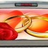 Wedding Rings- Roses- Hearts- 22 Inches-by-65 Inches- Rear Window Graphics