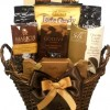 Delight Expressions™ Coffee and Chocolate Lovers Gourmet Food Gift Basket – A Holiday Thanksgiving Gift Basket Idea!