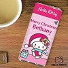 HELLO KITTY Pink Personalised Christmas Chocolate Bar – Xmas 2015 Gift by Hello Kitty