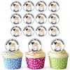 AKGifts Pug 24 Personalised Edible Cupcake Toppers / Birthday Cake Decorations – Easy Precut Circles (7 – 10 BUSINESS DAYS DELIVERY FROM UK)