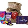 Cadbury chocolates Love Candy by The Yummy Palette | Cadbury Roses Cadbury Heroes Cadbury Milk Tray assorted chocolates in LIMITED Heart Burlap Basically British Bag