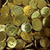 Solid Milk Chocolate Large Kennedy Gold Foil Coins – 10 Pound Box – Wholesale Bulk