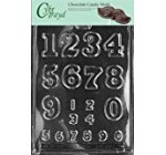 Cybrtrayd L009 Numbers – Large/Small Chocolate Candy Mold with Exclusive Cybrtrayd Copyrighted Chocolate Molding Instructions