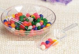 Candy Scoop Set - Package of 12 Clear Plastic Scoops for Wedding and Party Candy Buffets