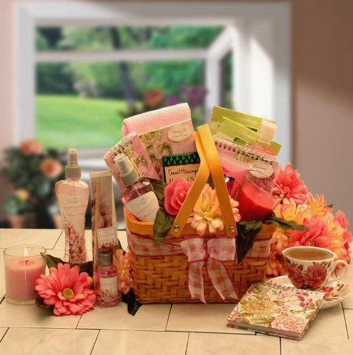 Thoughtful Flowers Spa Gift Basket for Her