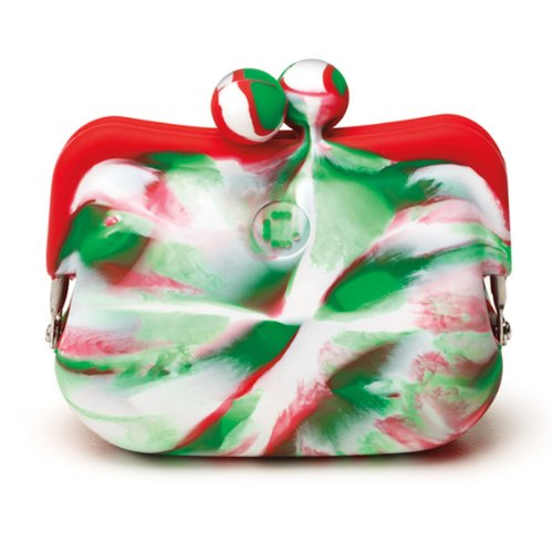 Candy Store Silicone Coin Purse - Candy Cane