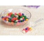 Candy Scoop Set – Package of 12 Clear Plastic Scoops for Wedding and Party Candy Buffets