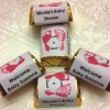 210 FOOTPRINTS BABY SHOWER HERSHEY NUGGET CANDY WRAPPERS/STICKERS/LABELS personalized for your party, make your own chocolate favors!