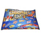 All Chocolate 150 Piece Halloween Chocolate Bars Candy Assortment Fun Size Ca