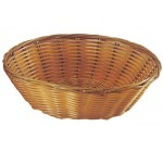 Update International BB-8R Woven and Bread Natural Color Basket, Round, 8-Inch
