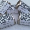 300 Damask Themed Wedding Candy wrappers/stickers/labels (Personalized Favors)