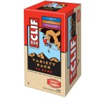 Clif Bar Energy Bar, Variety Pack, Chocolate Chip, Crunchy Peanut Butter, Chocolate Chip Peanut Crunch, 2.4-Ounce Bars, 24 Count
