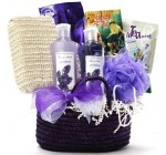 Art of Appreciation Gift Baskets Tranquil Delights Lavender Spa Bath and Body Tote