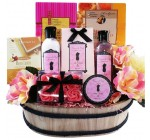Art of Appreciation Gift Baskets   Sweet and Stylish Peony Spa Bath and Body Set
