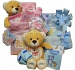 Sweet Baby Diaper Bag Gift Basket with Teddy Bear – Pink Girl