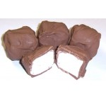Scott's Cakes Milk Chocolate Covered Marshmallows in a 1 Pound Green Ivy Bag