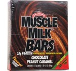 CytoSport Muscle Milk Bars, Chocolate Peanut Caramel, 1 Pound 4.6 Ounce Box, 8-Count