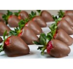 Chocolate Covered Strawberries in Rows – 52″W x 35″H – Peel and Stick Wall Decal by Wallmonkeys