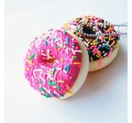 Set of 2 Scented Sprinkled Donut Necklace