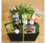 Golf Lovers Gourmet Golf and Snacks Gift Basket | Golf Gift Set
