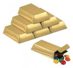 Foil Gold Bar Favor Boxes Party Accessory (1 count) (12/Pkg)