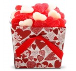 Organic Stores Gift Baskets Hearts Candy Gift Tote, Red and White