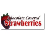 12″ CHOCOLATE COVERED STRAWBERRIES DECAL sticker candy dipped chocolatier sweet