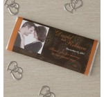 Photo Personalized Wedding Favors Candy Bar Wrappers – Paisley