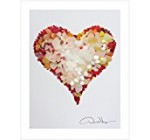 LOVE – Rare Red Sea Glass Heart Poster Print. 11×14 Great For Framing. Best Quality Gifts From the Heart Collection. Unique Birthday, Christmas & Valentines Gifts for Women, Men and Kids of All Ages