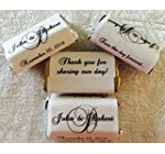 306 HIGH GLOSS Monogram Themed Wedding Candy wrappers/stickers/labels for your HERSHEY MINIATURES chocolate bars (Personalized Favors) for any Party or Event