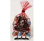 Scott's Cakes Foil Wrapped Solid Milk Chocolate Toy Soldiers in a 8 oz. Red Stripes Bag