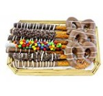 Sugar Plum Chocolates Gourmet Chocolate with Covered Pretzel Gift Tray