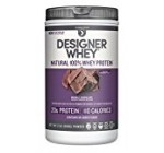 Designer Whey Premium Natural 100% Whey Protein, Double Chocolate, 32 Ounce