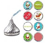 Santa Claus Label for HERSHEY'S KISSES® chocolates – Christmas Party Candy Stickers – Set of 240