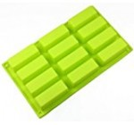 Allforhome(TM) 12 Oblongs Rectangle Bar Silicone Cake Baking Mold Cake Pan Muffin Cups Handmade Soap Moulds Biscuit Chocolate Ice Cube Tray DIY Mold