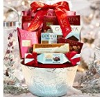 LA Signature Godiva Chocolatier Gift Basket – Brown (Red)