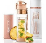 MAMI WATA Fruit Infuser Water Bottle – Create Naturally Flavoured Fruit Infused Water – Unique stylish design, Beautiful Gift Box, Insulated sleeve, Free recipes eBook – 24oz