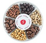 Snack Space Freshly Roasted Nuts and Chocolate Covered Nuts Gift Basket, 6 Section