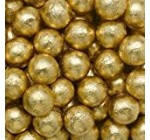 Individually Wrapped Foil Covered Chocolate Caramel Balls in a Variety of Colors – Bulk Wholesale (Gold, 2 Pounds)