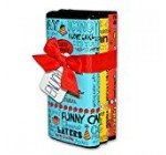 Seattle Chocolate Candy Bars Gift Set- All Natural, Non GMO, Gluten Free, Kosher Certified- 2.5 Ounce Dark & White Milk Chocolate Truffle Bars – Fun Doodles & Festive Phrases Wrapping- Pack Of 3