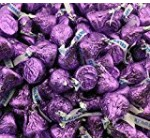 Hershey's Kisses, Milk Chocolate in Purple Foil (Pack of 2 Pound)