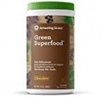 Amazing Grass Green Superfood Organic Powder with Wheat Grass and Greens, Flavor: Chocolate, 60 Servings