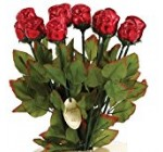 Long Stem 19″ Milk Chocolate Roses Bouquet of 6 – Red