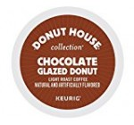 Donut House Collection Chocolate Glazed Donut Coffee, Keurig K-Cups, 72 Count